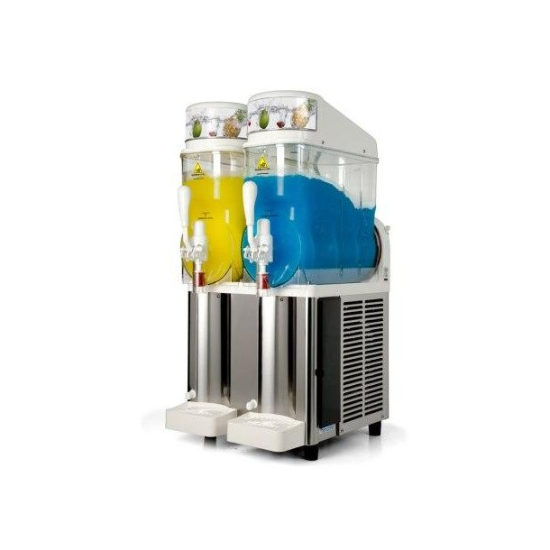 GHZ 228 Slush ice maskine hvid m/2 beh. á 12 ltr