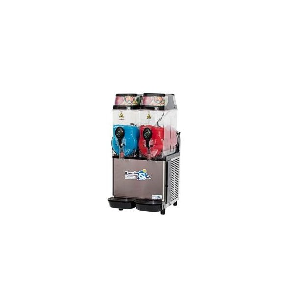 Slush ice maskine m/2 beh. leje m/tilbehør